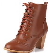 Mujer Zapatos Sintético / Cuero Patentado / Semicuero Otoño / Invierno Innovador / Botas Camperas / Botas de nieve Botas Paseo Tacón