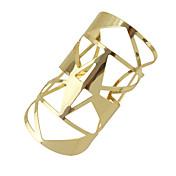 ブレスレット カフブレスレット 合金 幾何学形 ファッション パーティー / 日常 ジュエリー ギフト ゴールデン,1個
