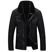メンズ 冬 コート,ヴィンテージ シャツカラー ソリッド レギュラー 長袖