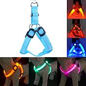 Perro Bozales Correas Entrenamiento luces de seguridad Correa de iluminación Luces LED Ajustable / Retractable Un Color Nailon Amarillo