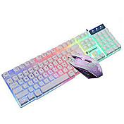 ゲームマウスとキーボードコンボ点灯USB有線キット(黒、白)