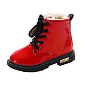 Chica Zapatos PU Invierno Confort / Botas de nieve Botas Paseo Con Cordón para Amarillo / Rojo / Azul
