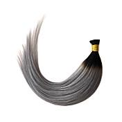 gris ombre inclino la extensión del pelo 1b recta / gris queratina extensión del pelo de fusión de 1 g / s