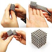 Juguete mágico diy de la educación del bloque hueco del rompecabezas del imán del cubo de la esfera de las bolas magnéticas diy de plata de 216pcs