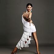 ラテンダンス ワンピース 女性用 ダンスパフォーマンス スパンデックス 1個 ノースリーブ ナチュラルウエスト ドレス
