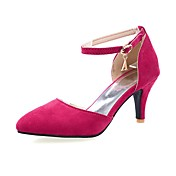 Mujer-Tacón Cono-Confort-Sandalias-Oficina y Trabajo Vestido Fiesta y Noche-Vellón-Negro Azul Morado Rojo