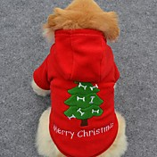Perro Saco y Capucha Ropa para Perro Bonito Vacaciones Moda Navidad Sólido Disfraz Para mascotas