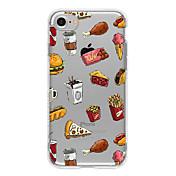Para Ultrafina / Transparente / Diseños Funda Cubierta Trasera Funda Fruta Suave TPU AppleiPhone 7 Plus / iPhone 7 / iPhone 6s Plus/6