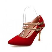 Mujer-Tacón Stiletto-Confort Innovador-Tacones-Exterior Oficina y Trabajo Informal-Semicuero-Negro Azul Rojo