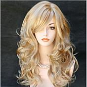 Ženy Dlouhý Zlatavý blond Vlnité Boční část S ofinou Umělé vlasy Bez krytky Přírodní paruka paruky