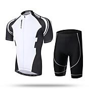 XINTOWN Hombre Manga Corta Maillot de Ciclismo con Shorts Bicicleta Shorts/Malla corta Pantalones Cortos Acolchados Camiseta/Maillot