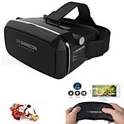 3d gafas de realidad virtual juego de la película auricular vr shinecon para teléfonos inteligentes mando de juegos a distancia WHI