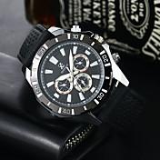 Hombre Reloj Deportivo Reloj Militar Reloj de Vestir Reloj de Moda Cuarzo Silicona Banda Casual Negro Blanco Rojo Azul marino