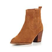 Three Seasons® Mujer-Tacón Robusto-Confort-Botas-Oficina y Trabajo / Casual-Cuero-Camello