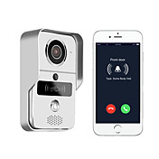 720P smart home WiFi video door phone, 2.4G wireless video door phone with RFTD card, wireless unlock MetalFotografiado Grabación RFID