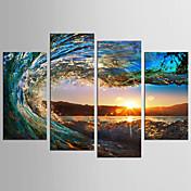 風景 静物画 クラシック 近代の,4枚 キャンバス 任意の形状 プリント 壁の装飾 For ホームデコレーション