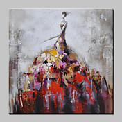 Pintada a mano Personas Retratos Abstractos Pinturas de óleo,Modern Estilo europeo Un Panel Lienzos Pintura al óleo pintada a colgar For