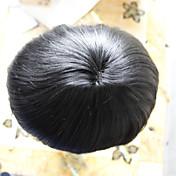 hombres TOUPEE 6 * 8Size 100% virgen color del pelo 1 #