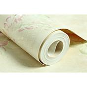 フローラル柄 リーフ柄 ホームのための壁紙 田園風 ウォールカバーリング , 不織布紙 材料 接着剤必要 壁紙 , ルームWallcovering