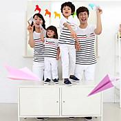Camiseta A Rayas Algodón Verano Pantalla de color