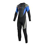 Bluedive 女性用 男性用 3mm フルウェットスーツ 保温 速乾性 YKKジッパー ビデオ圧縮 フルボディー ナイロン ネオプレン 潜水服 長袖 スイムウェア ダイビングスーツ トラックスーツ トライアスロン-水泳 潜水 レジャースポーツ サーフィン トライアスロン