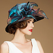 アックスシルクオーガンザの帽子のヘッドピースの結婚式のパーティーエレガントな女性のスタイル