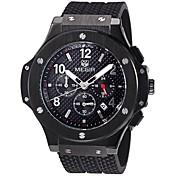 MEGIR Hombre Reloj de Pulsera Reloj Militar Reloj de Moda Reloj Deportivo Cuarzo Calendario suizo Noctilucente Los diseñadores Cuero