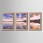 Inpresione Giclee Famoso Paisaje Clásico Realismo,Tres Paneles Vertical Panorámica lámina Decoración de pared For Decoración hogareña