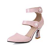 Mujer Zapatos Materiales Personalizados Semicuero Primavera Verano Otoño Innovador Zapatos del club Tacones Tacón Cuadrado Dedo Puntiagudo