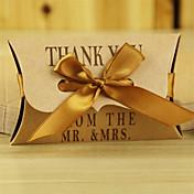 Almohada Papel de tarjeta Soporte para regalo  con Cintas Cajas de regalos