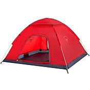 OSEAGLE 2人 テント シングル キャンプテント 1つのルーム 折り畳みテント 防湿 通気性 防水 防風 抗紫外線 防雨 のために 狩猟 ハイキング 釣り ビーチ キャンピング 旅行 屋外 屋内 2000-3000 mm 240*200*120 cm