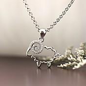 Colgantes Plata de ley Diamante Sintético Diseño Básico Animal Joyería de Lujo Joyas Para Diario Casual 1 pieza