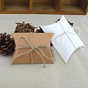 Redondo Cuadrado Almohada Papel de tarjeta Soporte para regalo  con Cintas Estampado Cajas de regalos