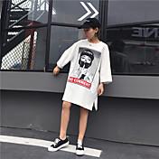 Mujer Clásico Moderno Ropa Cotidiana Verano Camiseta,Escote Redondo Otros Manga 3/4 N/A Medio