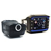 (ロシアの声で)1個の車DVRレーダー探知GPSで3 informatorの720pのHD車カメラレコーダーstrelkaレーザ検出器GPSロガー