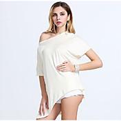 外国貿易大きいサイズの女性のバットスリーブ第五不規則Aliexpressの爆発Tシャツ