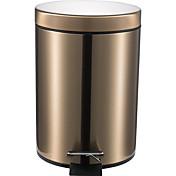 5リットル丸型ステンレス製パデル遅いタイプミュートゴミが耐性灰を指紋ことができごみ缶