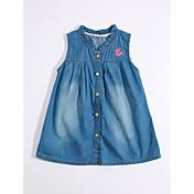 女の子の カジュアル/普段着 ゼブラプリント コットン リネン ドレス 夏 半袖