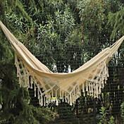Hamaca para camping Bien Ventilado Portátil Grueso Lienzo Algodón para Camping Al Aire Libre