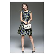 サインスポット新しいスリムジャカードワードスカートファッションノースリーブベストスカートプリントドレス