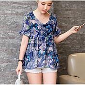スポットの夏新しい韓国のファッションルーズ2ピースシフォンシャツ半袖シャツ女性桃No thanks