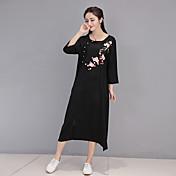 スポットは、本当に2017春と夏の女性の中国の国家風の刺繍ビッグヤード緩いコットンドレスを作ります