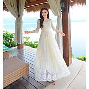 レトロな花の刺繍位置決めduoleiのSI妖精のスカートのドレスの気質に署名