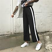 Mujer Moderno Media cintura Rígido Pantalones Pantalones,Pantalones Rayas Estilo moderno