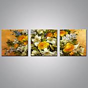 キャンバス地プリント 花柄/植物の 近代の, 3枚 キャンバス 横式 プリント 壁の装飾 ホームデコレーション