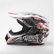 メジャーオフロードバイクレーシングヘルメットフルフェイスダンピング耐久モータースポーツヘルメットホワイト/オレンジ色