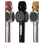 no Inalámbrico Micrófono de Karaoke USB Negro Rosa Oro