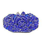Mujer Bolsos PU Metal Bolso de Mano Cristal / Cristal Flor para Boda Evento/Fiesta Formal Oficina y carrera Primavera Verano Otoño Azul