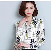 レディース カジュアル/普段着 ワーク シャツ,シンプル シャツカラー プリント その他 長袖