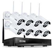 1.3mp wifi cámara IP de vigilancia kit de seguridad para el hogar a prueba de agua 960p NVR sistema de circuito cerrado de televisión